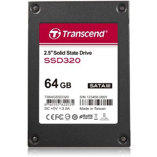 "64GB Transcend SSD320 2.5"" (6.4cm) SATA 6Gb/s MLC Toggle"