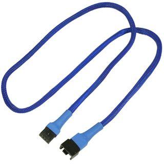Nanoxia 60 cm blaues Verlängerungskabel für 4-Pin PWM