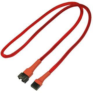 Nanoxia 60 cm rotes Verlängerungskabel für 4-Pin PWM