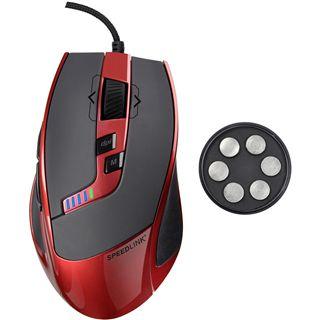 Speedlink Kudos USB schwarz/rot (kabelgebunden)