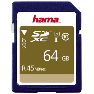 64 GB Hama UHS-I 45MB/s SDXC Class 10 Bulk