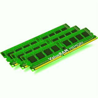24GB Kingston ValueRAM Intel DDR3-1333 DIMM CL9 Tri Kit