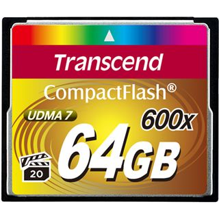 64 GB Transcend Ultimate Compact Flash TypI 600x Retail