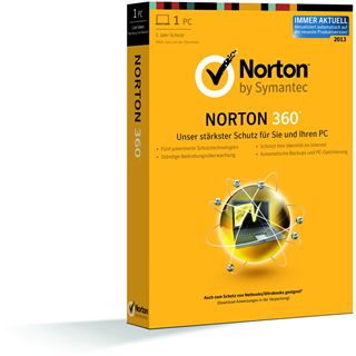 Symantec Norton 360 2013 32/64 Bit Deutsch Internet Security Lizenz