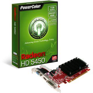 1GB PowerColor Radeon HD 5450 Go! Green Passiv PCIe 2.1 x16 (Retail)