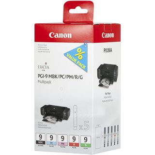 Canon Tinte PGI-9MBK/PC/PM/R/G 1033B013 schwarz matt, cyan photo,
