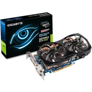 2GB Gigabyte GeForce GTX 660 OC 2xWindforce Aktiv PCIe 3.0 x16 (Retail)