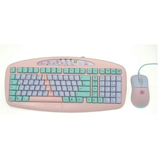 A4tech Tastatur/Maus Set KBS-6135BP-DER Rosa USB