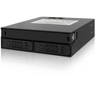 """Icy Dock ToughArmor 5,25"""" Wechselrahmen für 2x 2.5"""" Festplatten (MB994IPO-3SB)"""