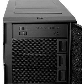 Nanoxia Deep Silence 1 Midi Tower ohne Netzteil silber