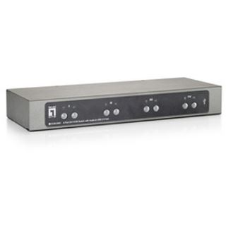 LevelOne KVM-0461 4-fach Desktop KVM-Switch