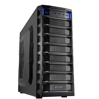 Sharkoon REX 8 Economy Midi Tower ohne Netzteil schwarz