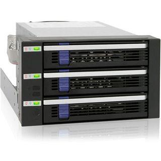 "Icy Dock FatCage 2x 5,25"" Wechselrahmen für 3x 3.5"" Festplatten (MB153SP-B)"