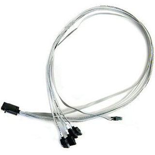(€36,13*/1m) 0.80m Adaptec SAS 6Gb/s Anschlusskabel SFF-8643 Stecker auf 4xSATA Stecker Grau