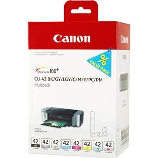 Canon Tinte CLI-42 Multipack 6384B010 schwarz, grau, grau hell, cyan,