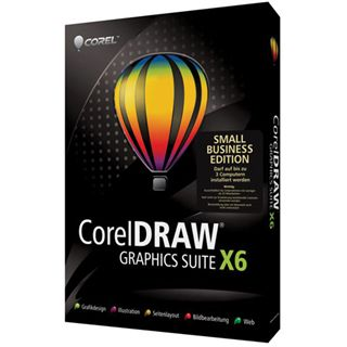 Corel CorelDraw Graphics Suite X6 - Small Business Edition 32/64 Bit Deutsch Grafik FPP PC (DVD)