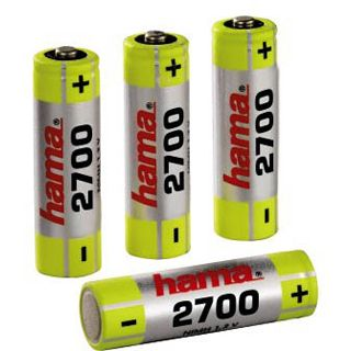 Hama Akkus AA / Mignon Nickel-Metall-Hydrid 2700 mAh 4er Pack