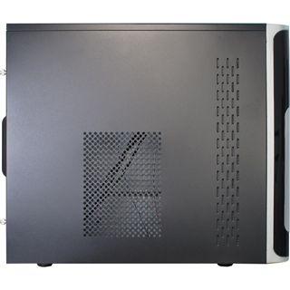 Inter-Tech WN-30 Perseus Mini Tower ohne Netzteil schwarz/silber
