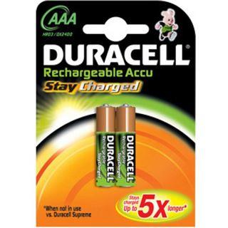 Duracell Stay Charged HR03 Nickel-Metall-Hydrid AAA Micro Akku 850 mAh 2er Pack