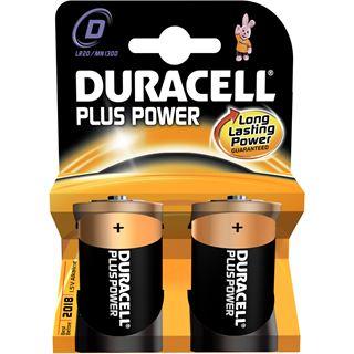 Duracell Plus Power LR20 Alkaline D Mono Batterie 1.5 V 2er Pack