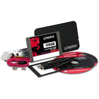 "120GB Kingston SSDNow V300 Upgrade Kit 2.5"" (6.4cm) SATA 6Gb/s"