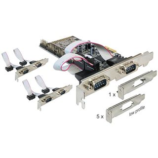 Delock 89347 6 Port PCIe x1 retail