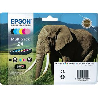 Epson Tinte T2428 Multipack Claria Photo HD Std. 29,1ml Elefant