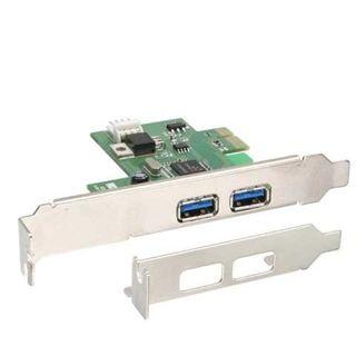 InLine 76666U 2 Port PCIe x1 interner Stromanschluss/inkl. Low