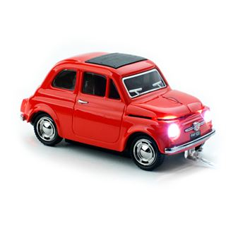 Sunny Trade Car-Mouse Fiat 500 alt USB rot (kabellos)