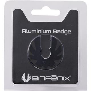 BitFenix Aluminium Badge schwarz Logo für Prodigy