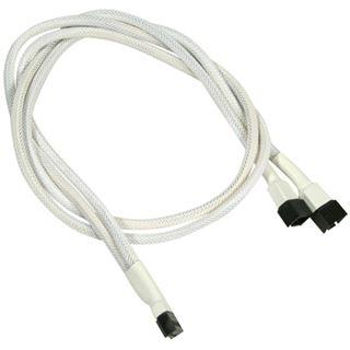 Nanoxia 60 cm weißes Y-Kabel für 3-Pin Molex (NX3PY60W)