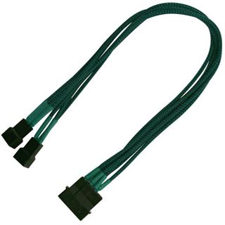 Nanoxia 30 cm grünes Adapterkabel für 4-Pin Molex zu 2x