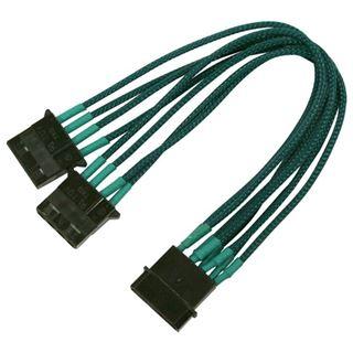 Nanoxia 20 cm grünes Y-Kabel für 4-Pin Molex (NX4PY2EG)