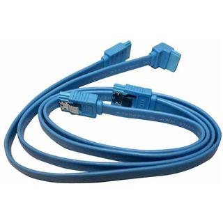 Gigabyte 0,5m SATA Kit blau 1xgewinkelt an 3x gerade