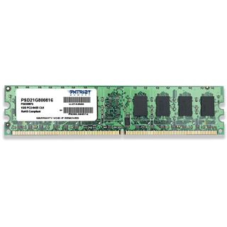 1GB Patriot Signature Series DDR2-800 DIMM CL6 Single
