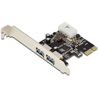 Digitus DS-30220-4 2 Port PCIe 2.0 x1 inkl. Low Profile Slotblech