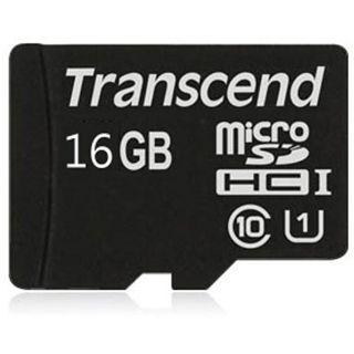 16 GB Transcend Premium UHS-I microSDHC Class 10 Bulk inkl. Adapter