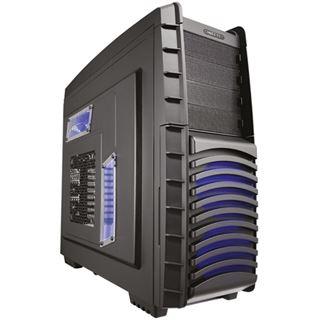Chieftec Dragon DX-02B Midi Tower ohne Netzteil schwarz/blau