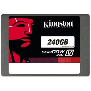 "240GB Kingston SSDNow V300 2.5"" (6.4cm) SATA 6Gb/s MLC asynchron (SV300S37A/240G)"