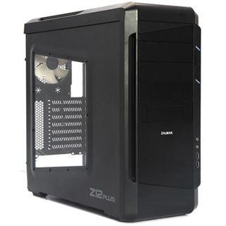 Zalman Z12 Plus mit Sichtfenster Midi Tower ohne Netzteil schwarz