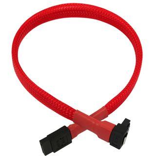 Nanoxia 0,3m SATA 6GB/s Anschlusskabel rot gewinkelt für