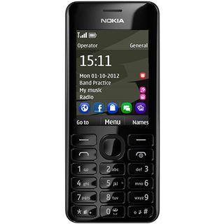 Nokia 206 Dual SIM 64 MB schwarz