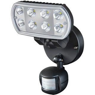 Brennenstuhl LED-Wandstrahler L801 IP55 PIR, schwarz 8x 1W, mit