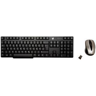 V7 Wireless 2.4GHz Keyboard Combo Deutsch USB schwarz