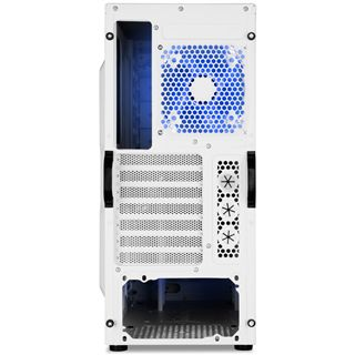 Sharkoon REX3 Value blau beleuchtet mit Sichtfenster Midi Tower ohne