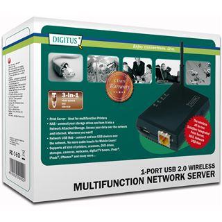 Digitus DN-13021 Wireless 1x USB/WLAN/100-Mbit