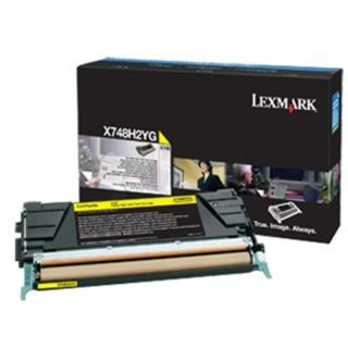 Lexmark corporate Toner X748 gelb