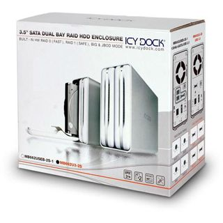 "Icy Dock MB662U3-2S 3.5"" (8,89cm) USB 3.0 silber"