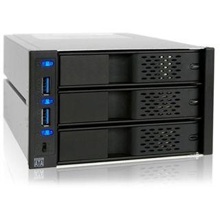 """Icy Dock FlexCage 2x 5,25"""" Wechselrahmen für 3x 3.5"""" Festplatten (MB973SP-2B)"""