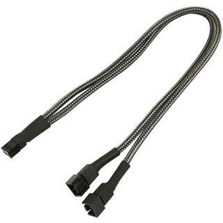 Nanoxia 30 cm carbon Y-Kabel für 3-Pin Molex (NX3PY30C)